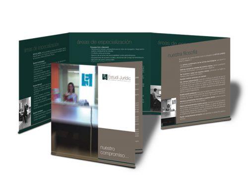 Diseño de tríptico informativo de servicios. Estudi Jurídic